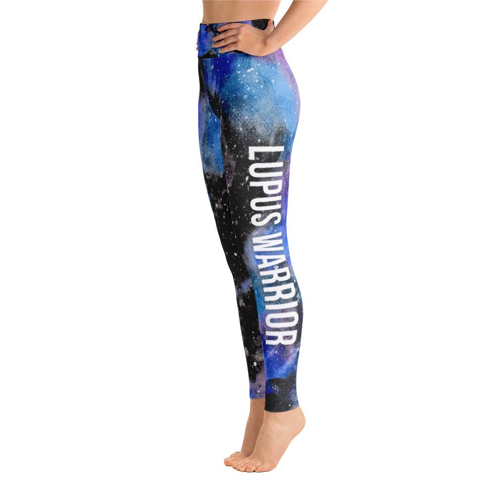 Lupus Warrior NFTW Black Galaxy Yoga Leggings With Pockets