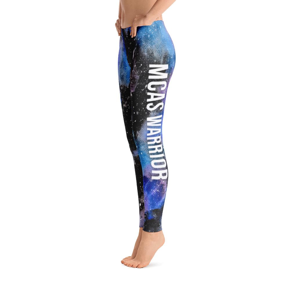 Mast Cell Activation Syndrome - MCAS Warrior NFTW Black Galaxy Leggings