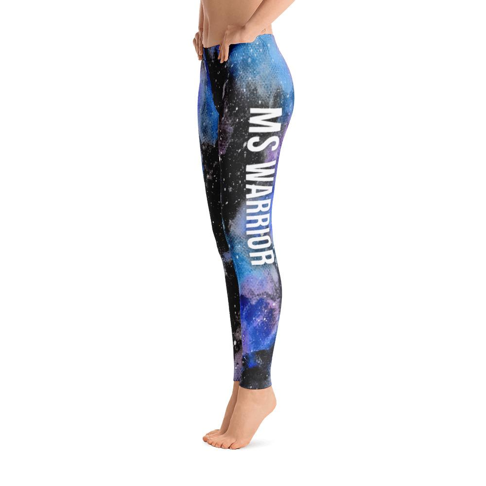 Multiple Sclerosis - MS Warrior NFTW Black Galaxy Leggings