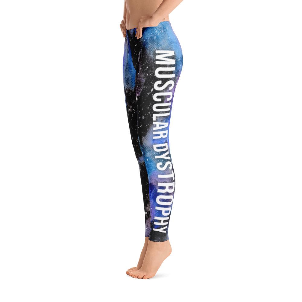 Muscular Dystrophy Warrior NFTW Black Galaxy Leggings - The Unchargeables