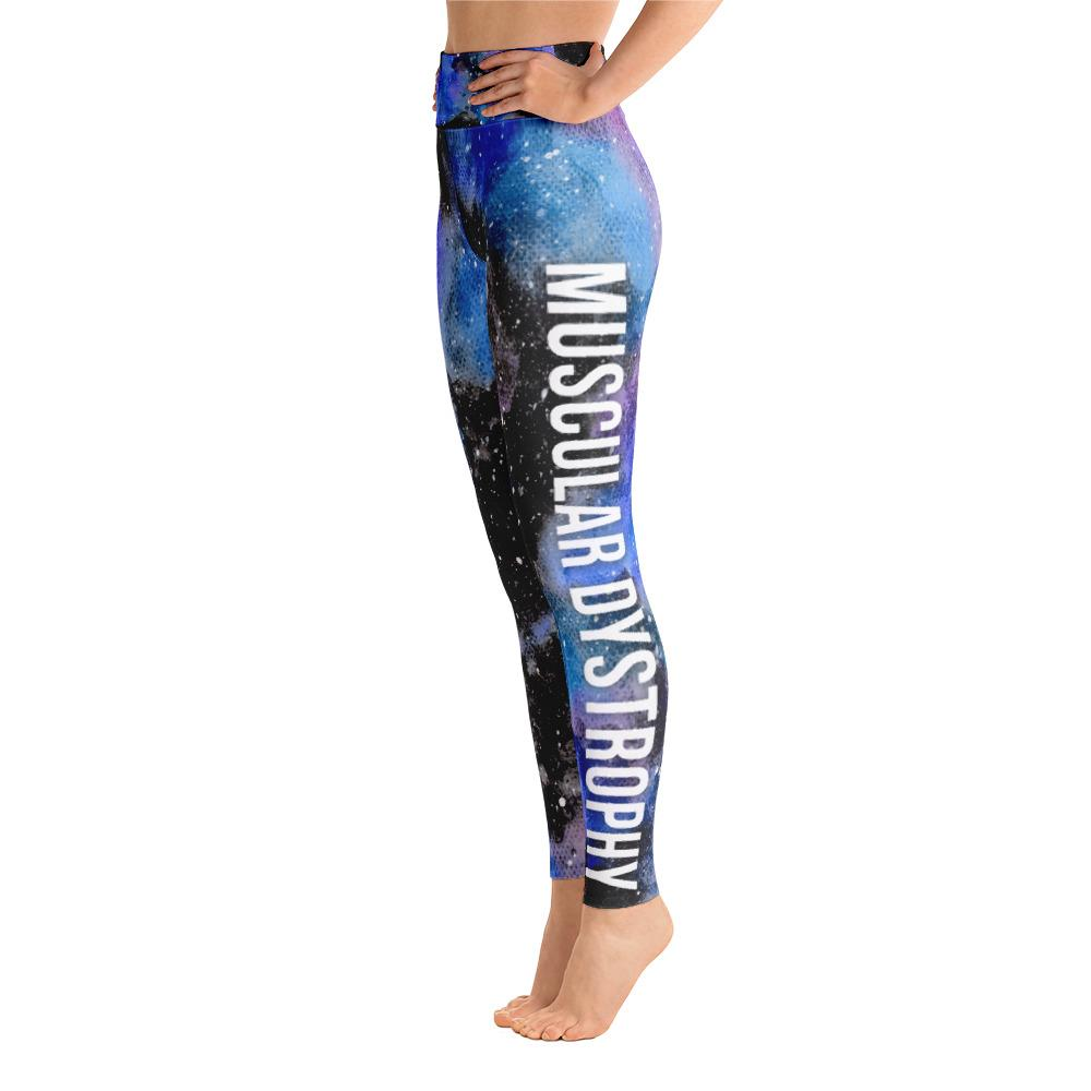 Muscular Dystrophy Warrior NFTW Black Galaxy Yoga Leggings With High Waist and Coin Pocket - The Unchargeables