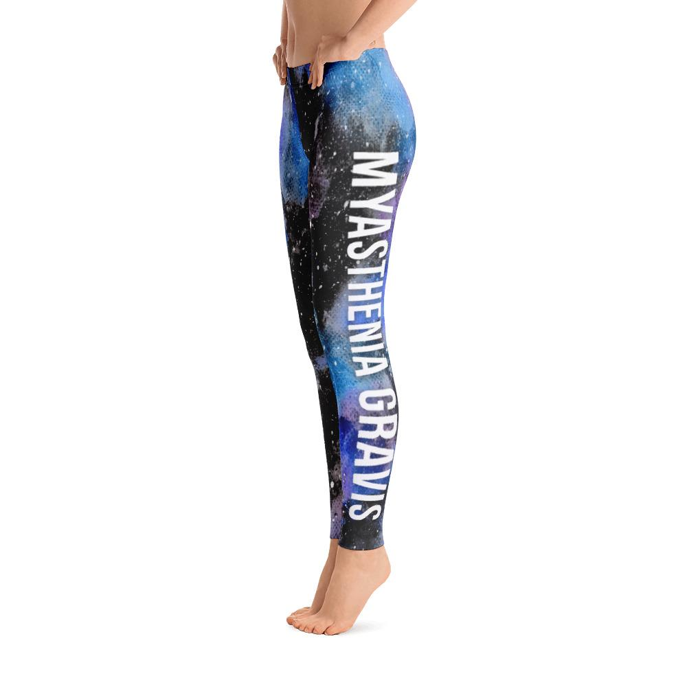 Myasthenia Gravis Warrior NFTW Black Galaxy Leggings - The Unchargeables