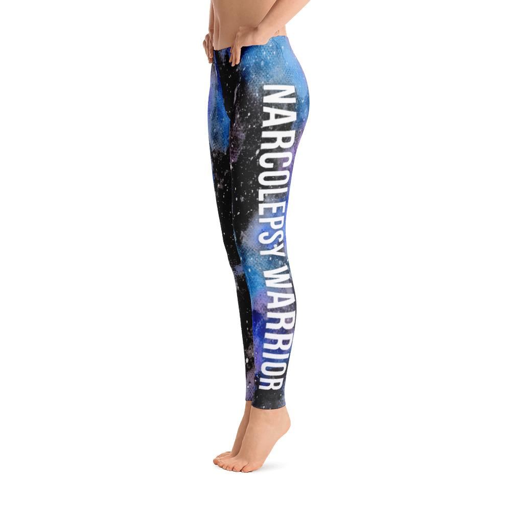 Narcolepsy Warrior NFTW Black Galaxy Leggings