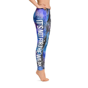Narcolepsy Warrior NFTW Black Galaxy Leggings - The Unchargeables