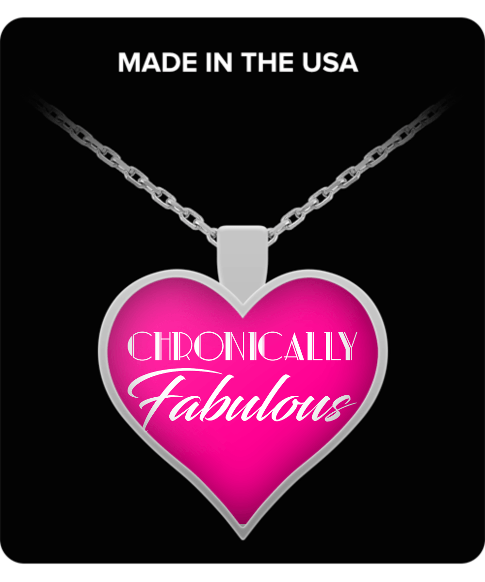 Necklace - Chronically Fabulous Pink Heart Shaped Necklace