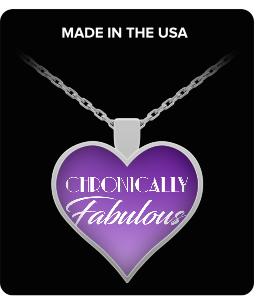 Necklace - Chronically Fabulous Purple Heart Shaped Necklace