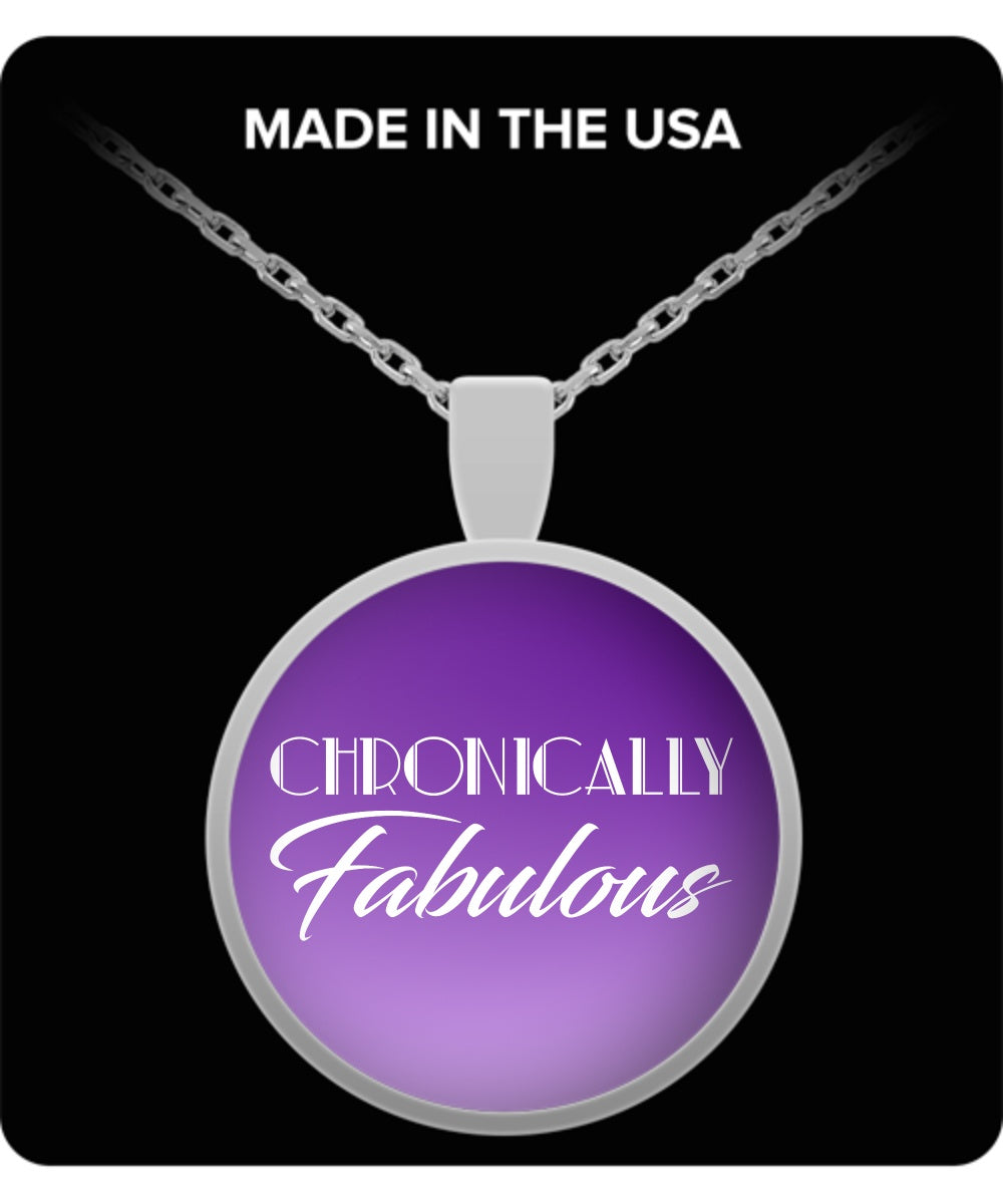 Necklace - Chronically Fabulous Purple Necklace