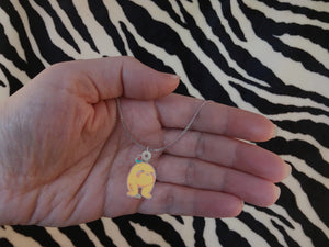 Ally the Allergy Monster Silver Necklace - The Unchargeables