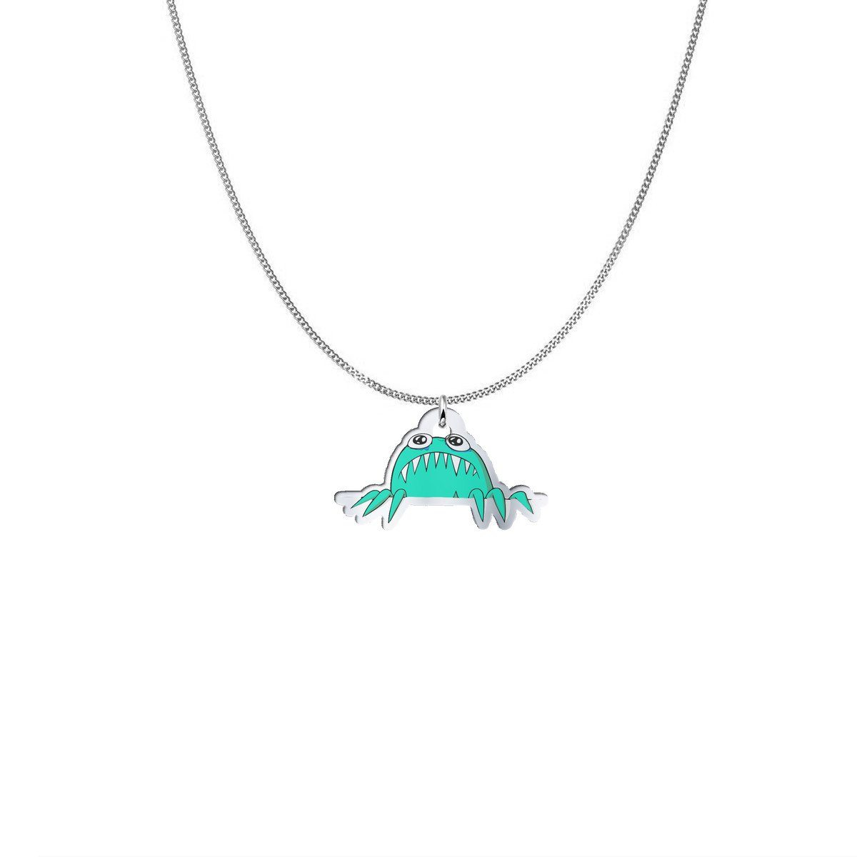 Pendant - Annie The Anxiety Monster Silver Necklace