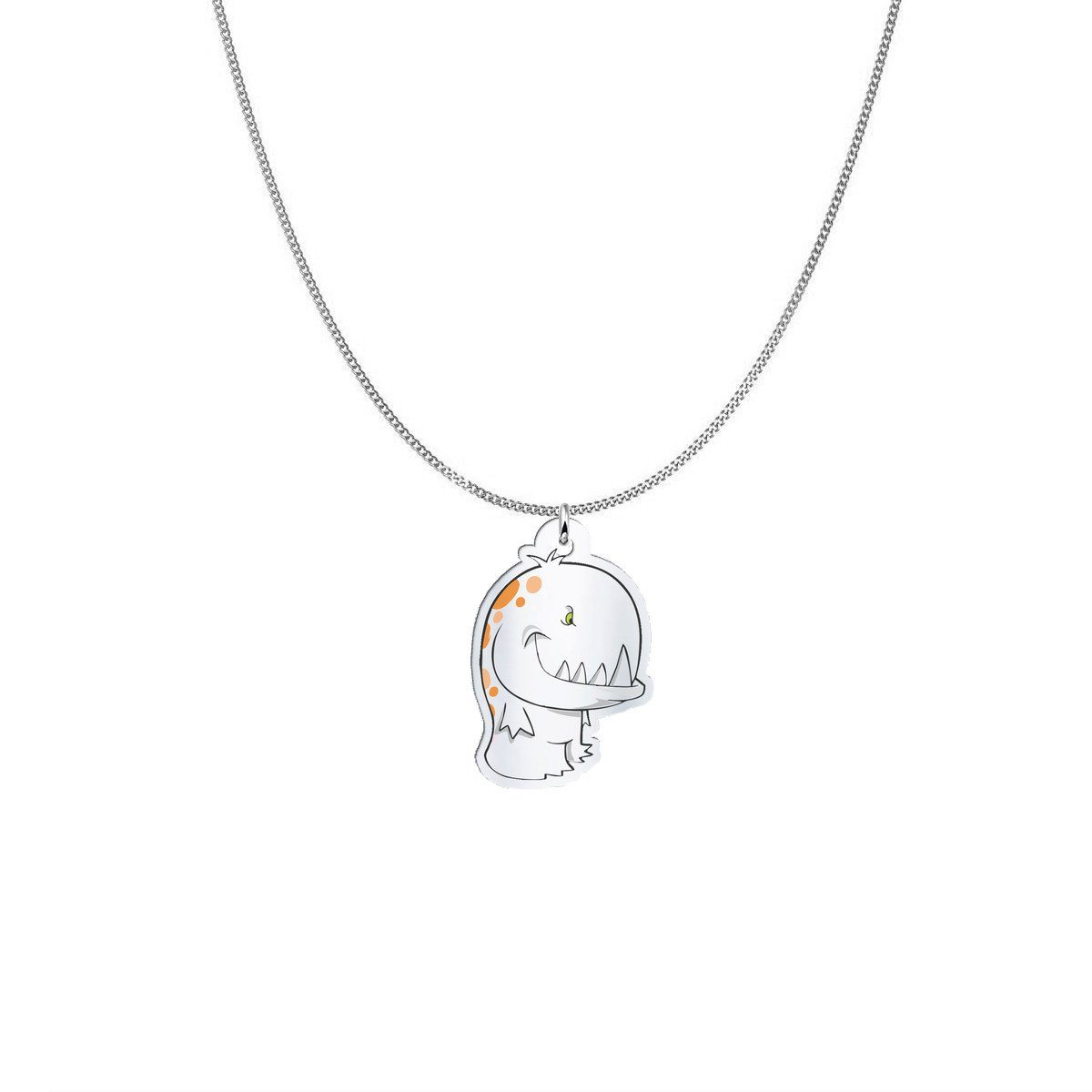 Pendant - Donny The Multiple Sclerosis Monster Silver Necklace