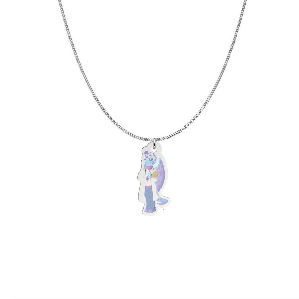 Pendant - Dr. Fria The Cold Urticaria Monster Silver Necklace
