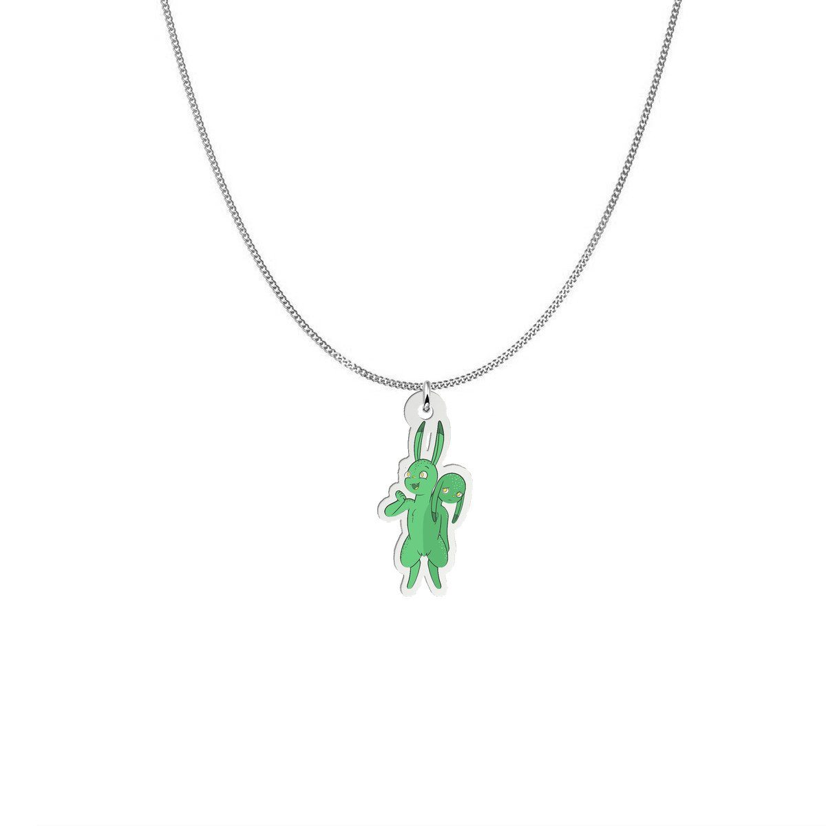 Pendant - Lara The Bipolar Disorder Monster Silver Necklace