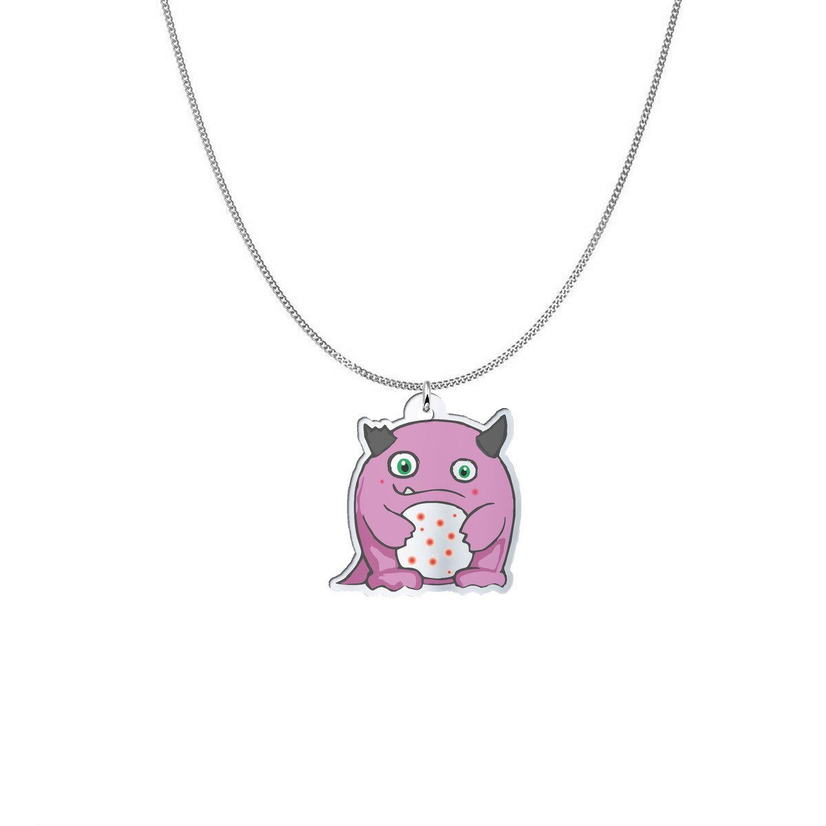 Pendant - Lupe The Lupus Monster Silver Necklace
