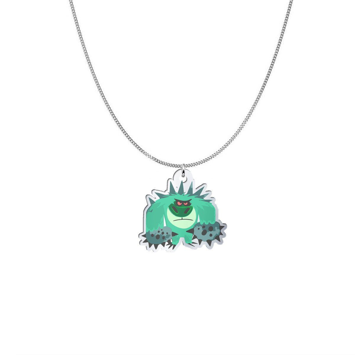 Pendant - Mr. T The Trigeminal Neuralgia Monster Silver Necklace