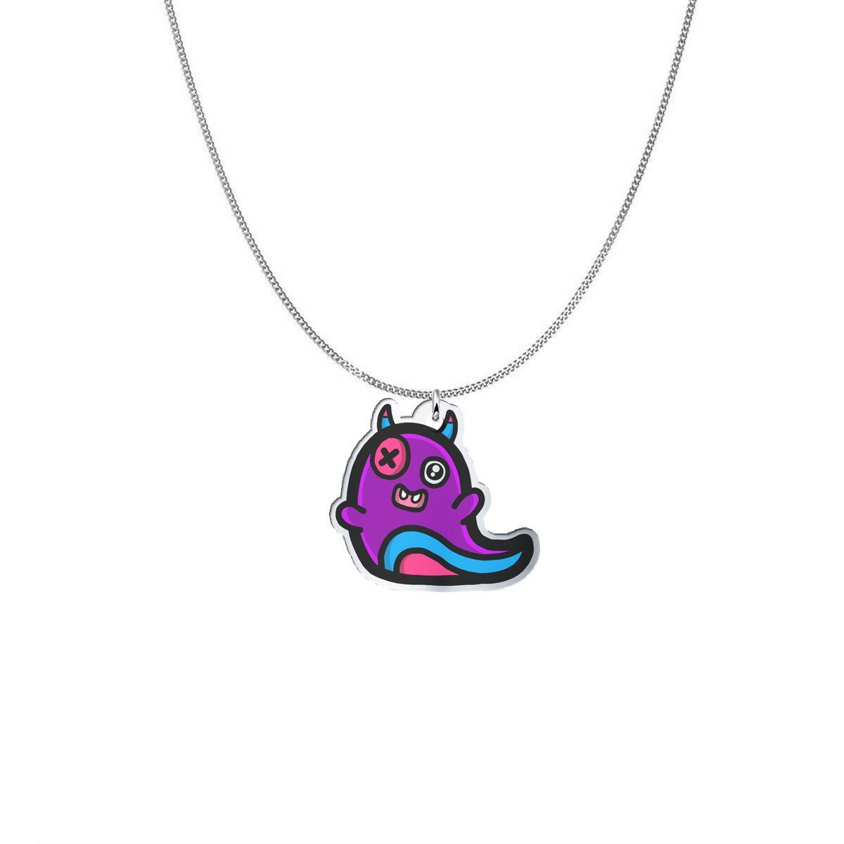 Pendant - Nono The Cheeky Demon Of Fear Silver Necklace