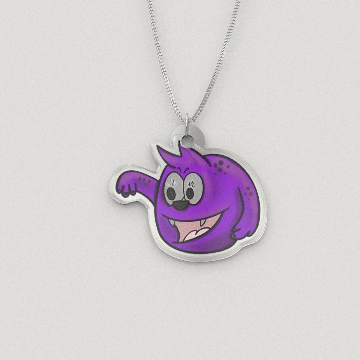 Pendant - Penny The Chronic Pain Monster Silver Necklace