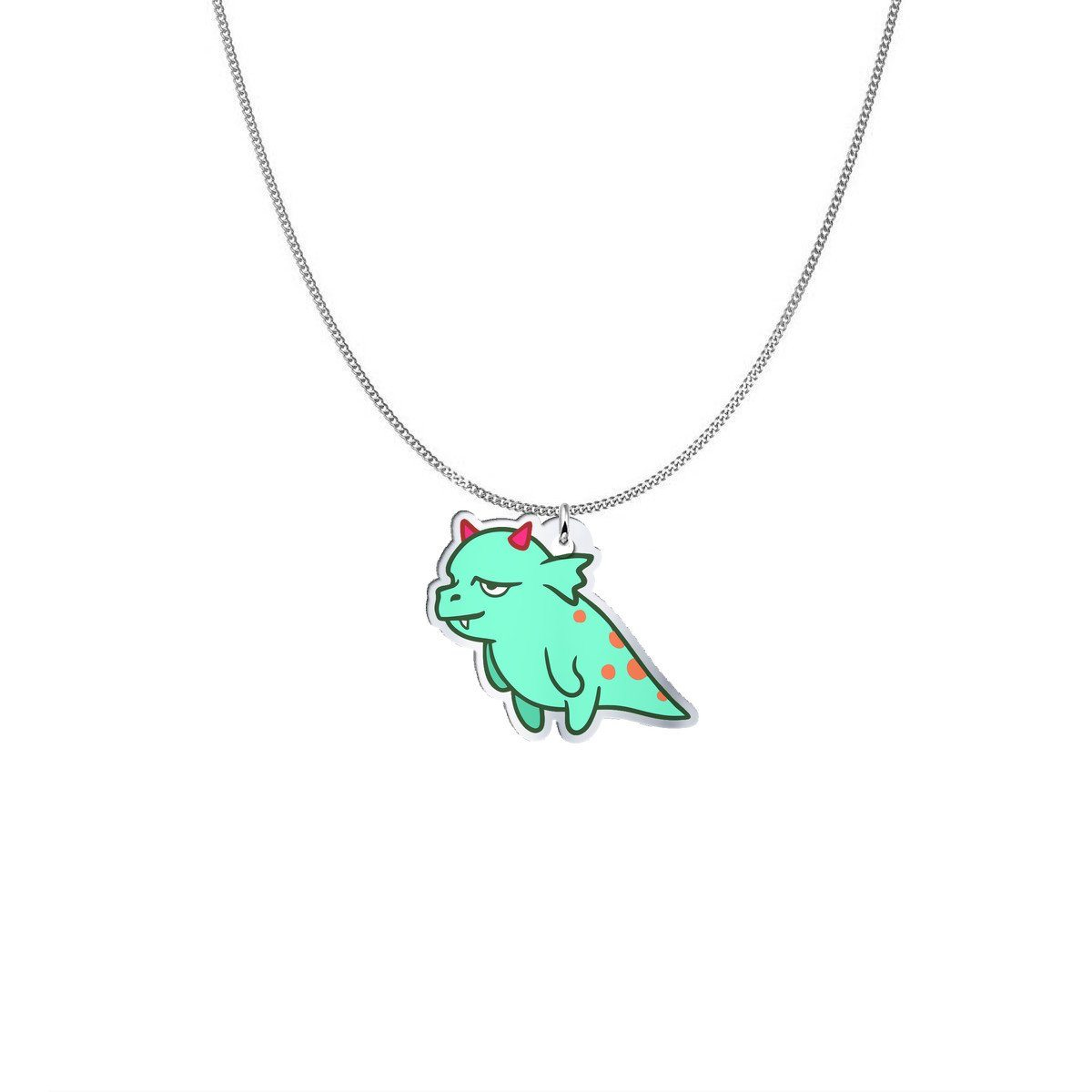 Pendant - Polly The PCOS Monster Silver Necklace