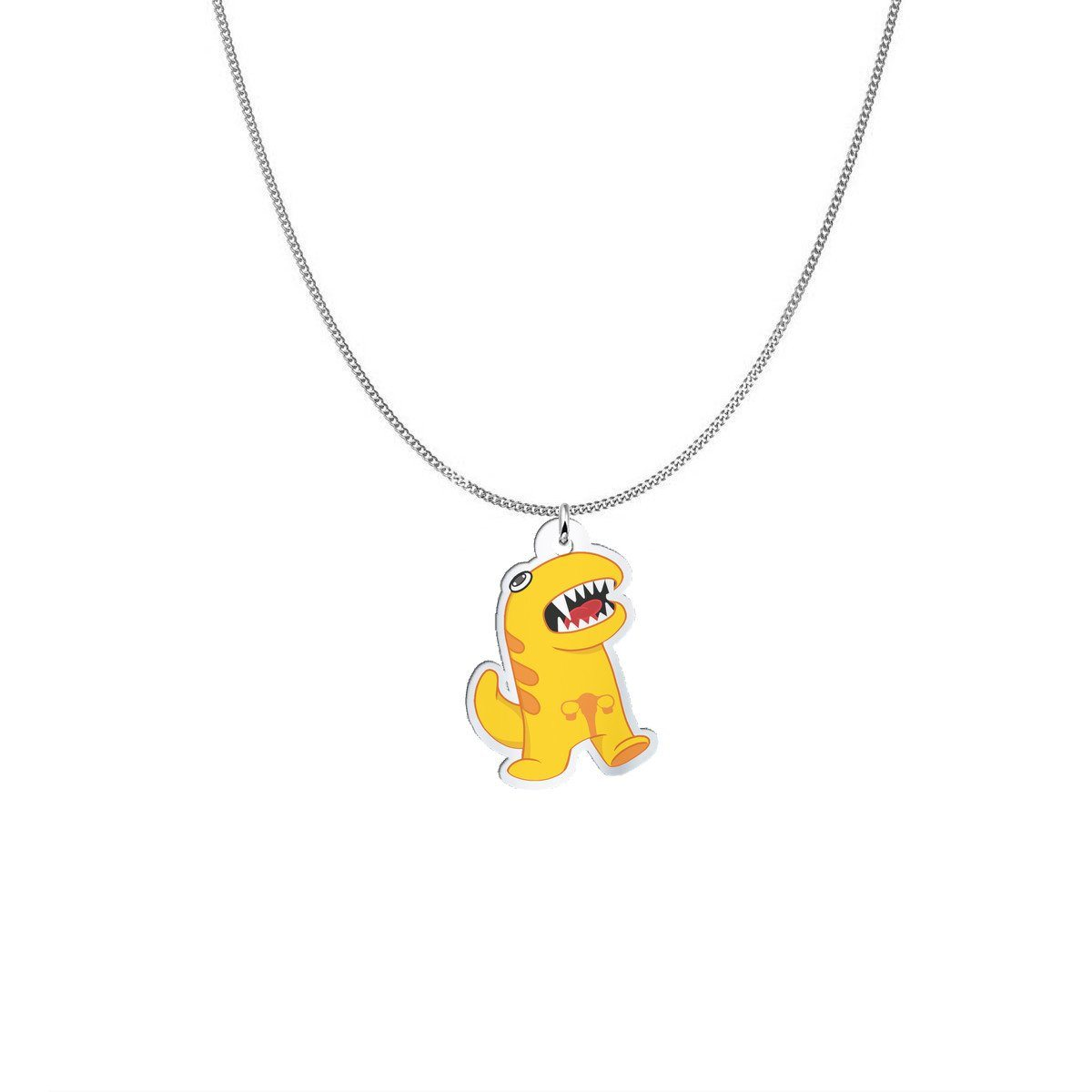 Pendant - Sis The Endometriosis Monster Silver Necklace