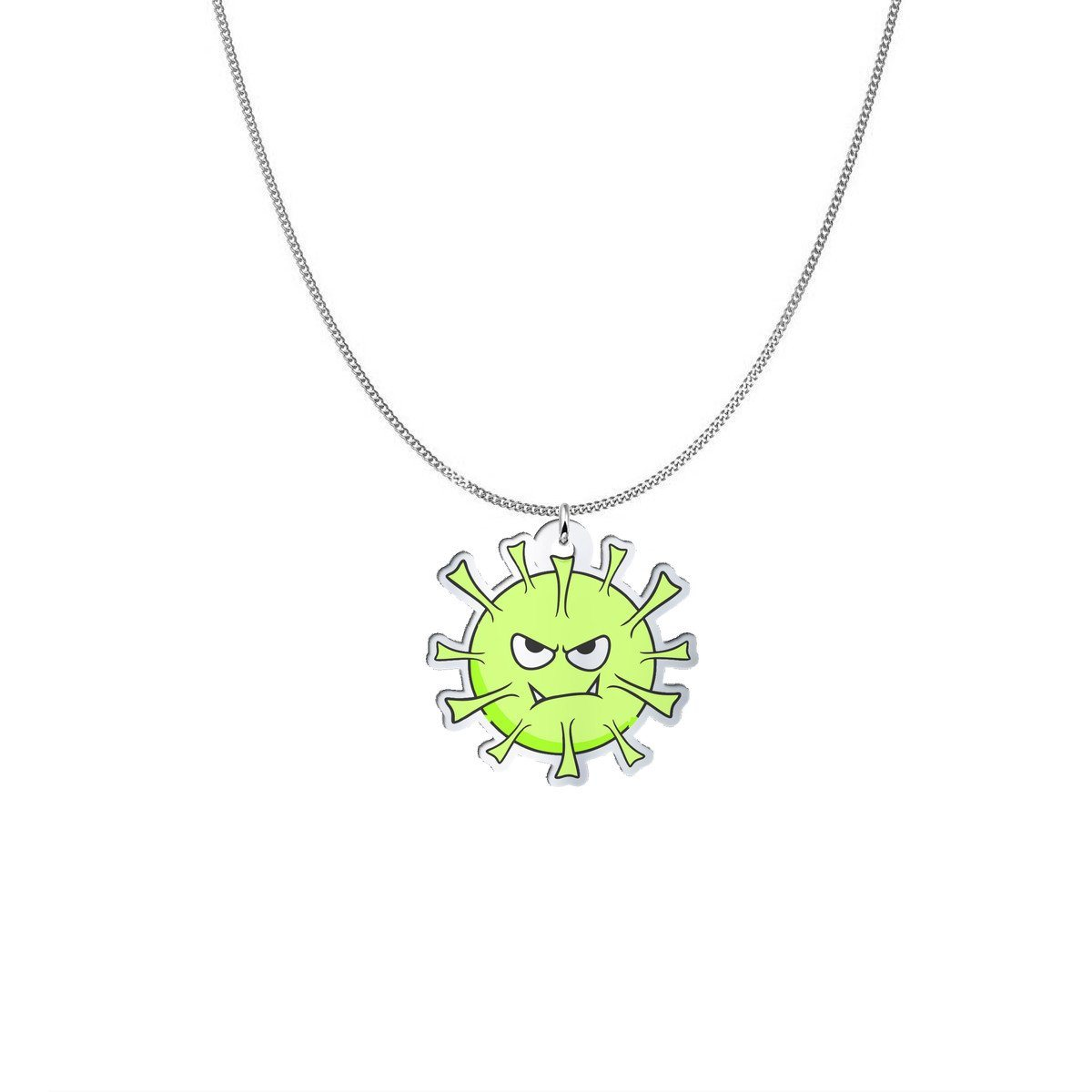 Pendant - Tick The Lyme Disease Monster Silver Necklace