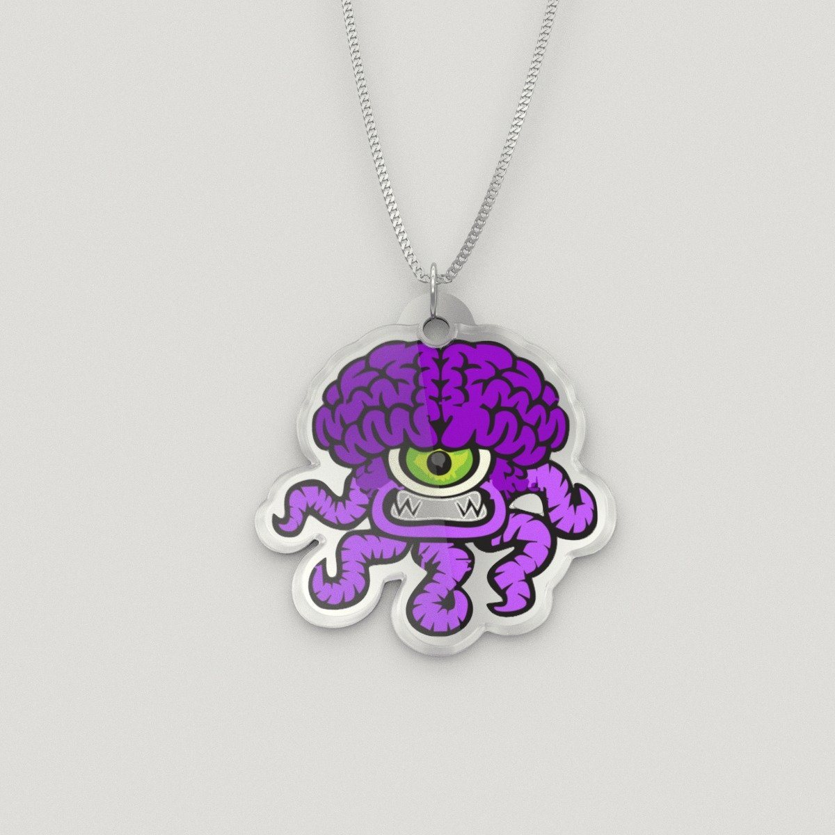 Pendant - Zippy The Chiari Malformation Monster Silver Necklace