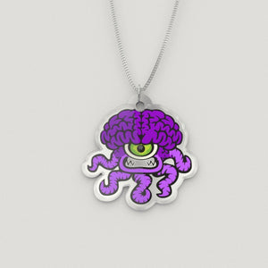 Zippy the Chiari Malformation Monster Silver Necklace - The Unchargeables