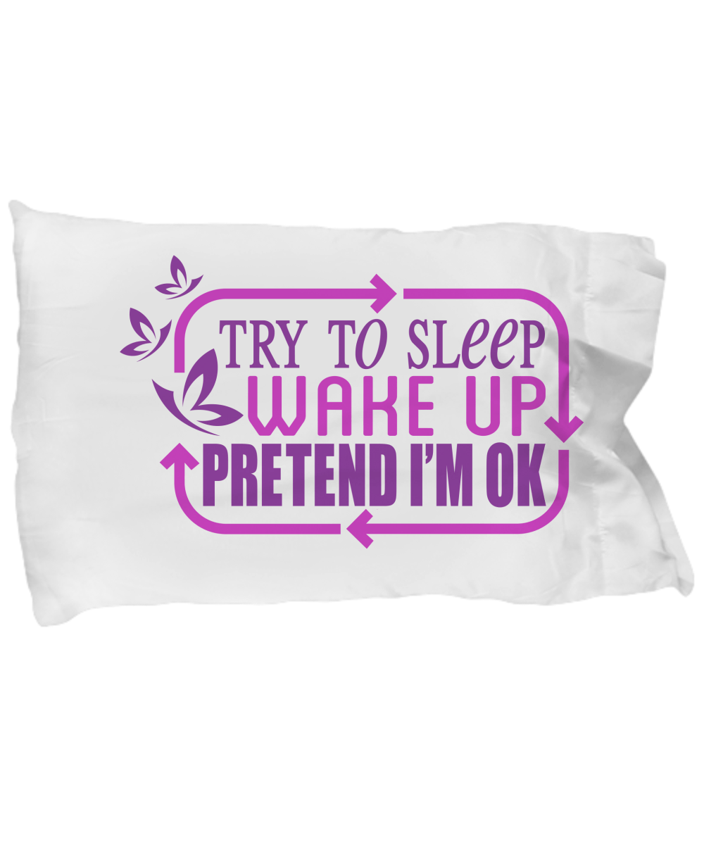 Chronic Illness Cycle Purple Big PillowCase - The Unchargeables
