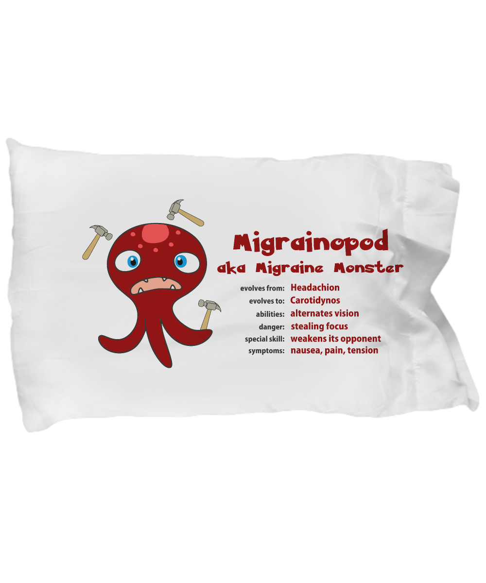 Migraine Monster Pillowcase - The Unchargeables