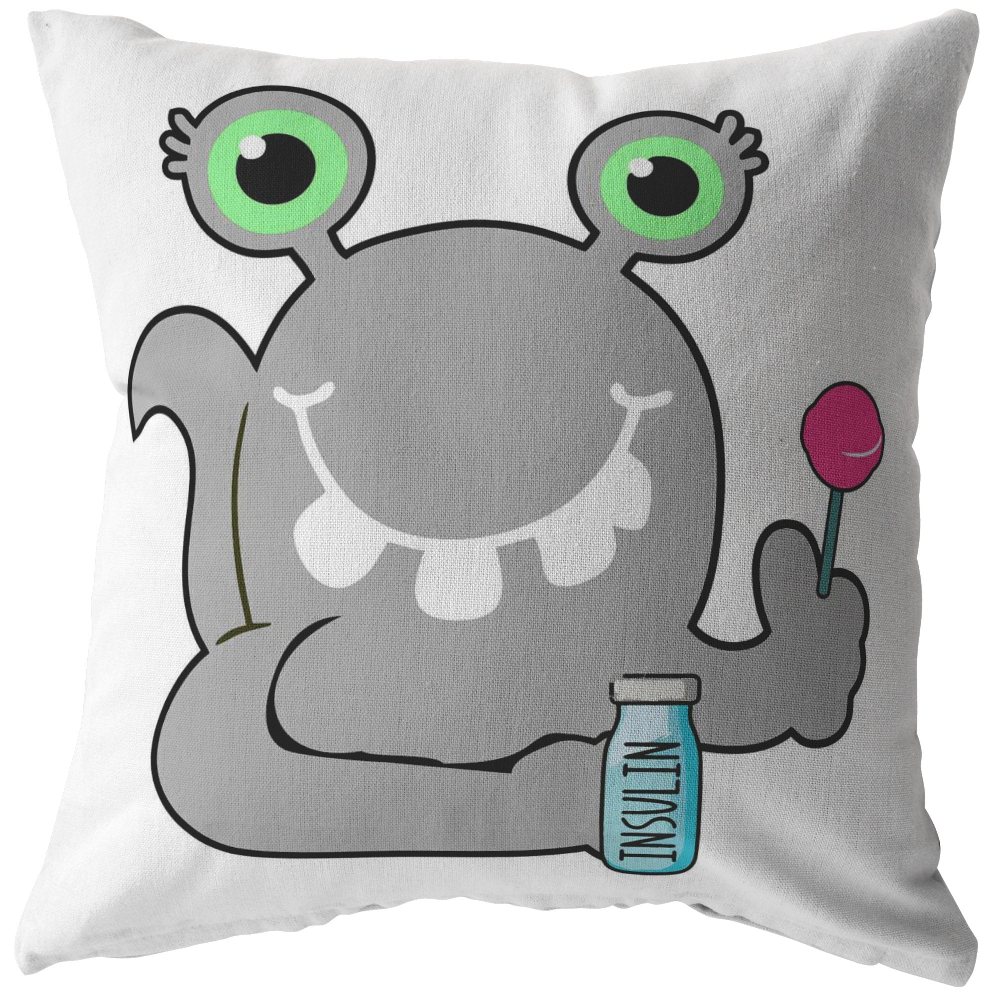 Beets the Diabetes Monster Pillow