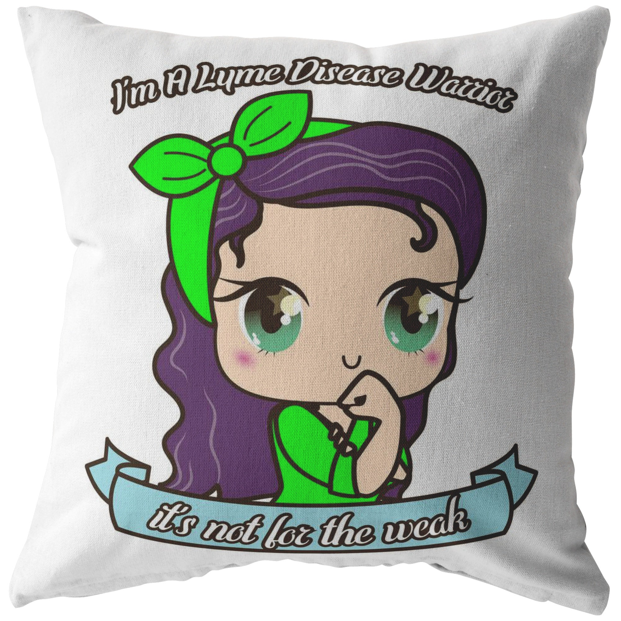 Cute Lyme Disease Warrior Pillow - The Unchargeables