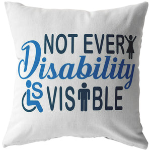 Invisible Disability With Icons Pillow