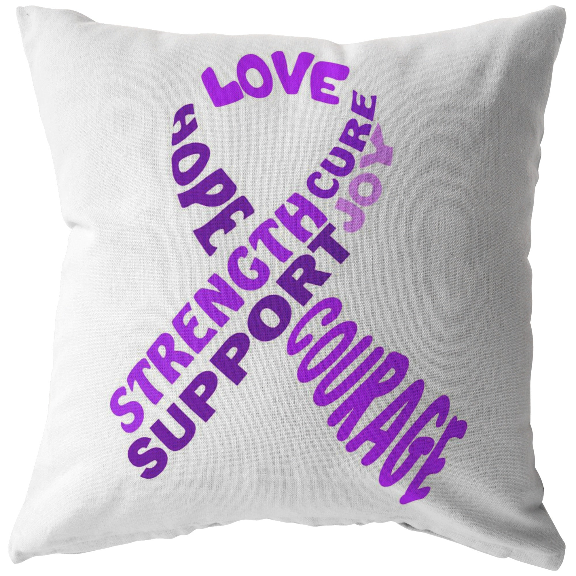 Purple Awareness Ribbon With Words Pillow