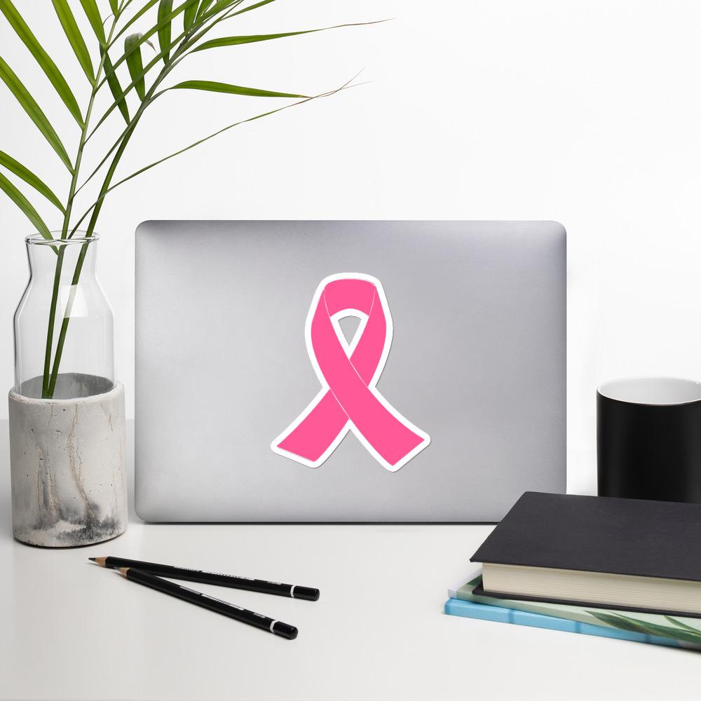 Pink Awareness Ribbon Sticker - The Unchargeables