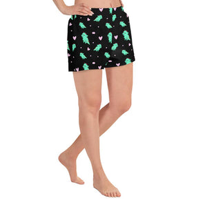 Polly the PCOS Monster Pattern Shorts