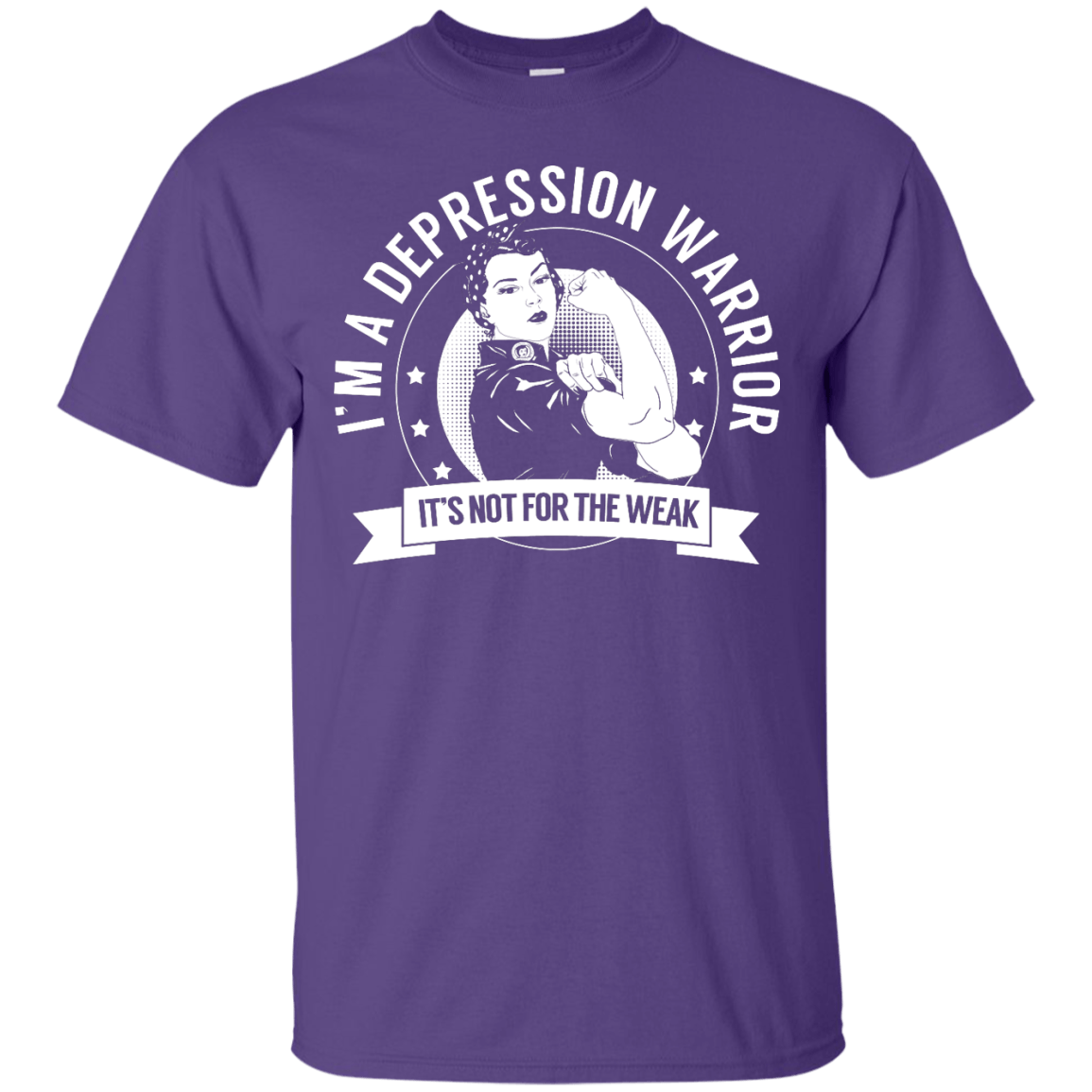 Short Sleeve - Depression Warrior Not For The Weak Unisex Shirt