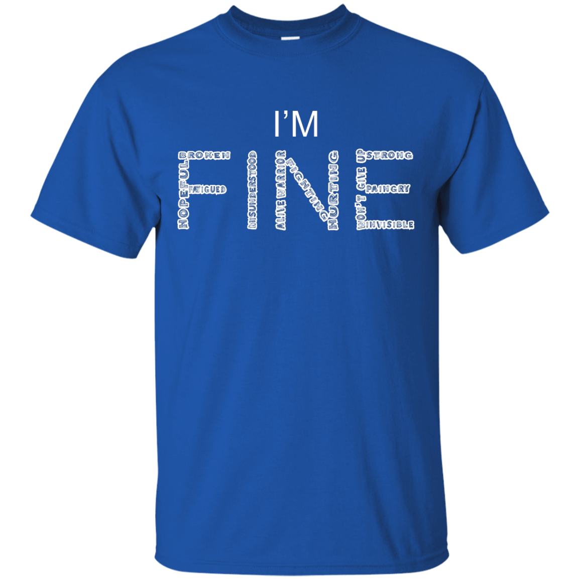 I'm Fine Between The Lines Unisex Shirt - The Unchargeables
