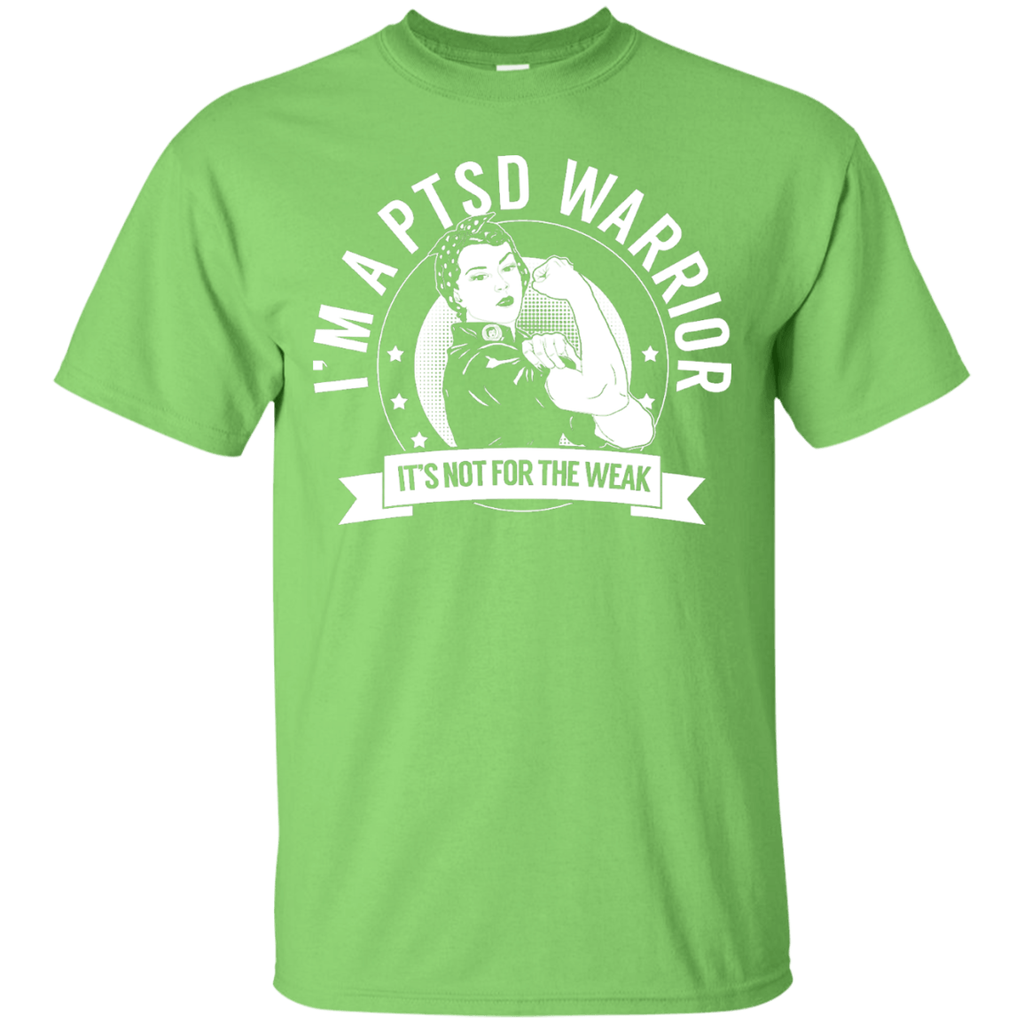 Short Sleeve - Post Traumatic Stress Disorder - PTSD Warrior Not For The Weak Unisex Shirt