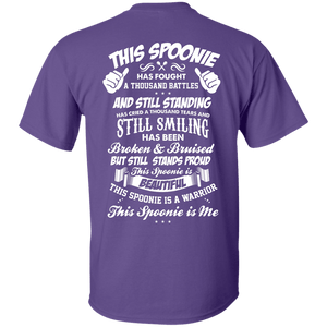 This Spoonie is Me Back Print Unisex Shirt - The Unchargeables