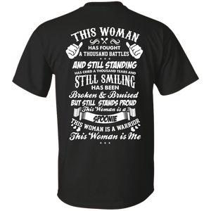 Short Sleeve - This Woman Is Me Back Print Unisex Shirt
