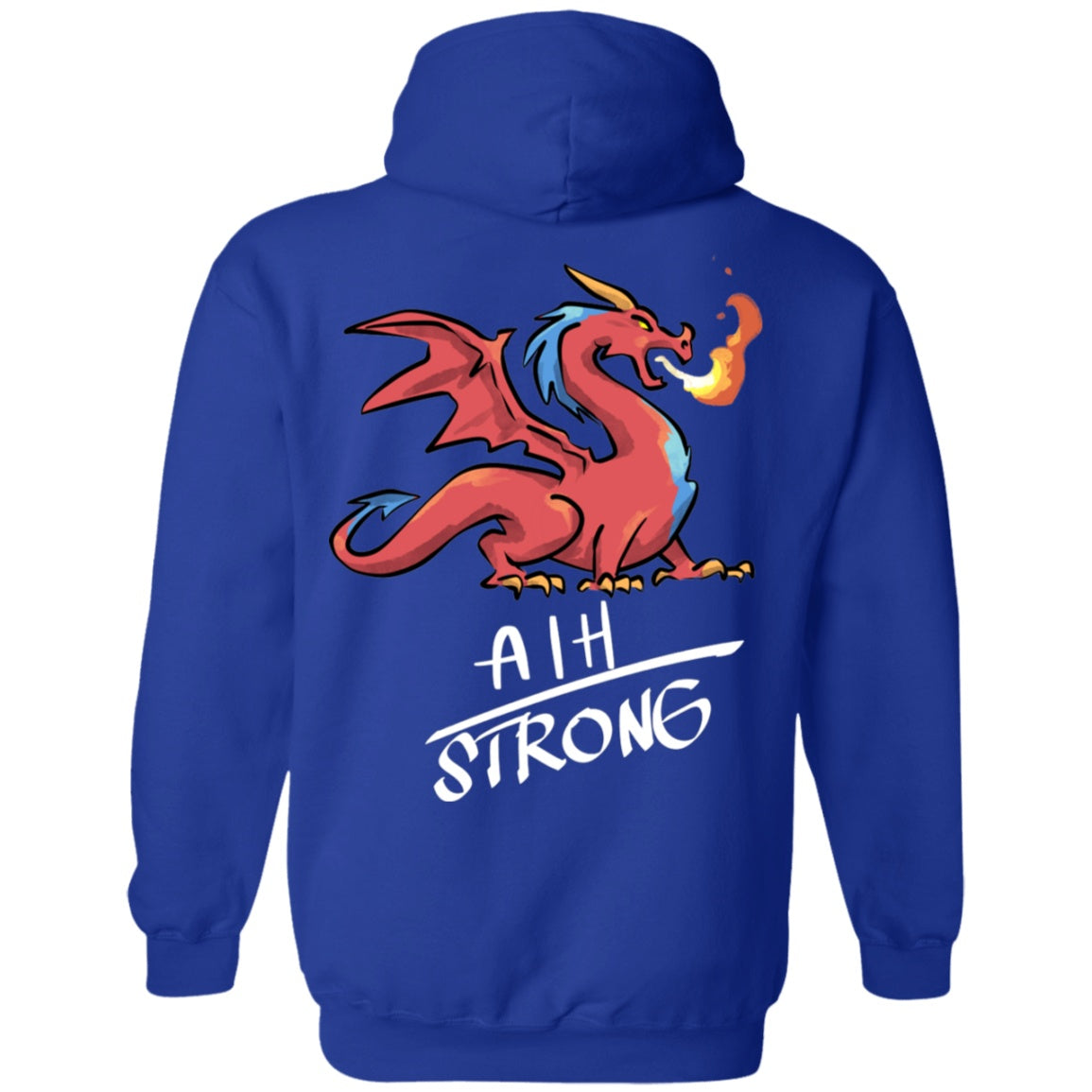 AIH Strong Dragon Pullover Hoodie 8 oz. - The Unchargeables