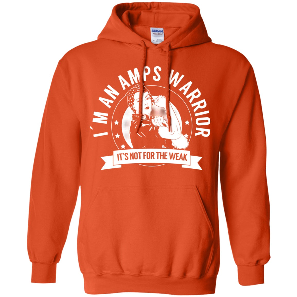 Sweatshirts - Amplified Musculoskeletal Pain Syndrome - AMPS Warrior NFTW Pullover Hoodie 8 Oz.