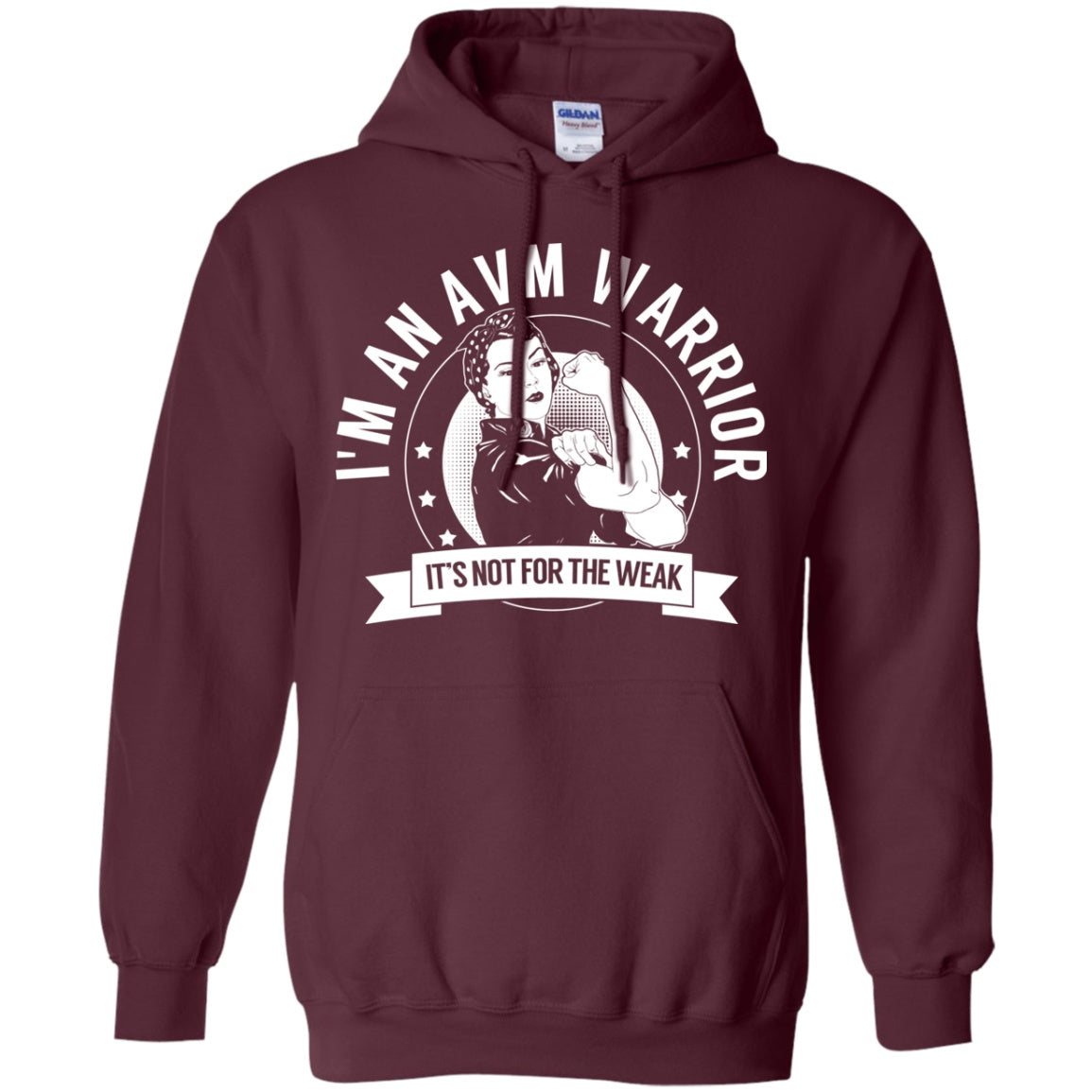 Arteriovenous Malformation - AVM Warrior NFTW Pullover Hoodie 8 oz. - The Unchargeables