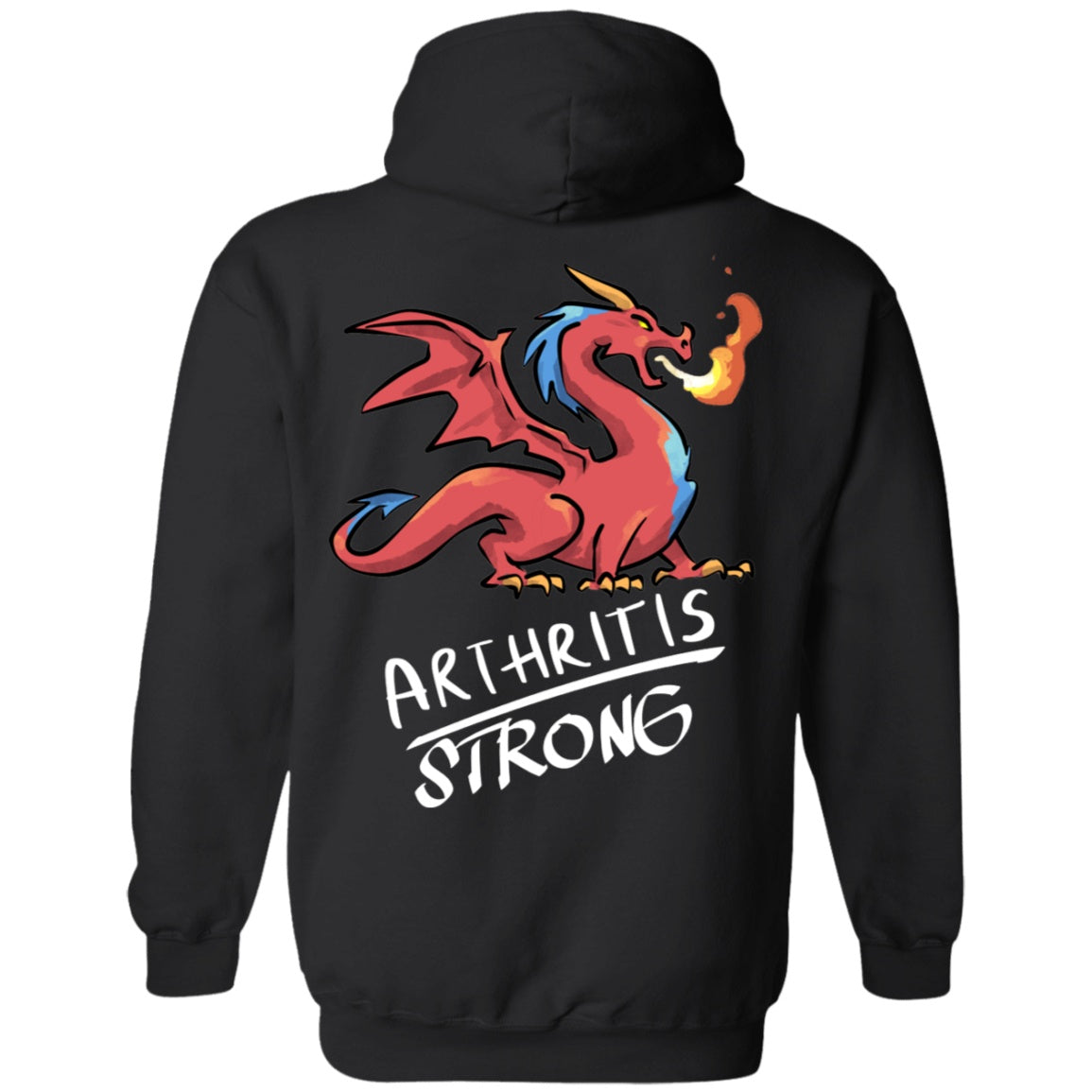 Arthritis Strong Dragon Pullover Hoodie 8 oz. - The Unchargeables