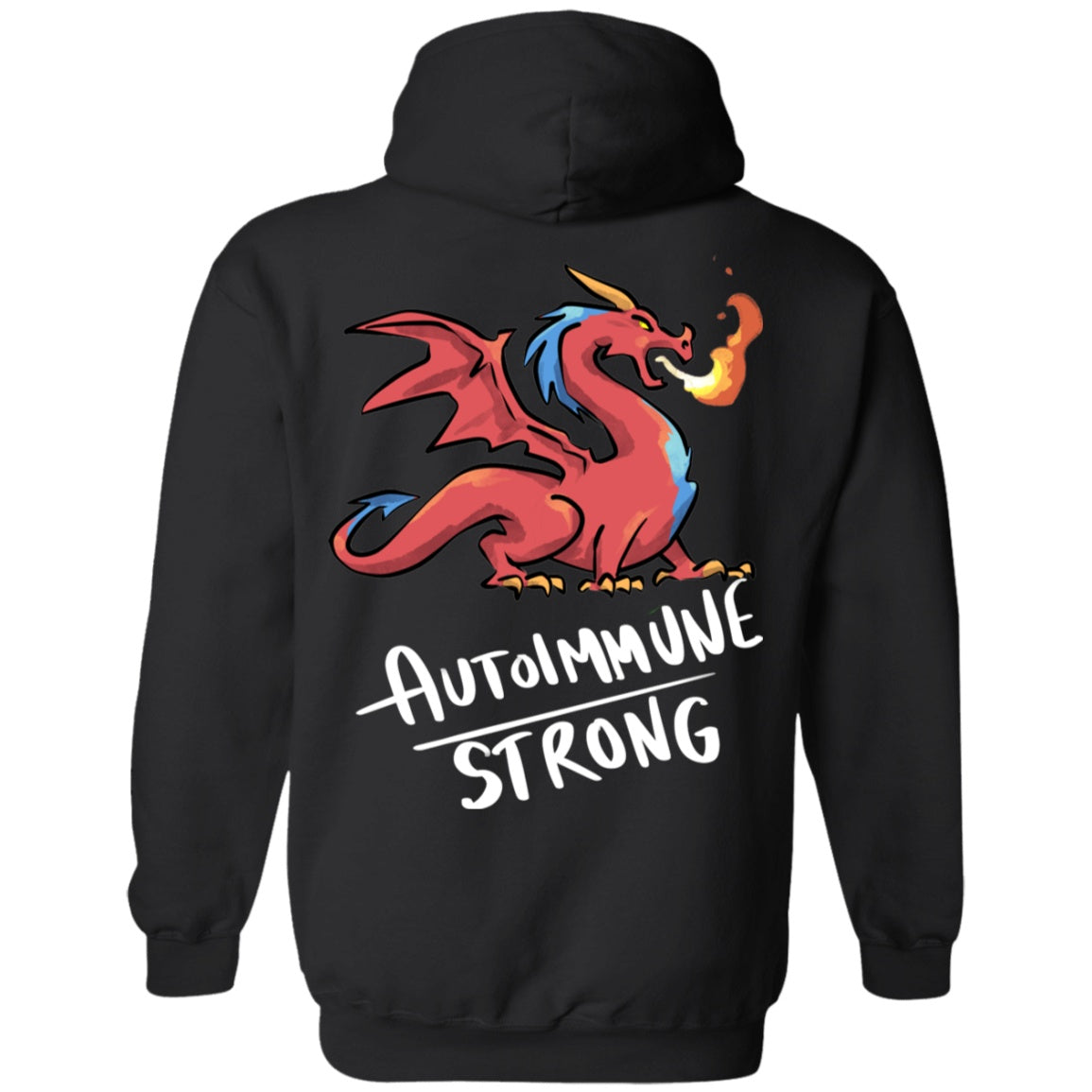 Autoimmune Strong Dragon Pullover Hoodie 8 oz. - The Unchargeables