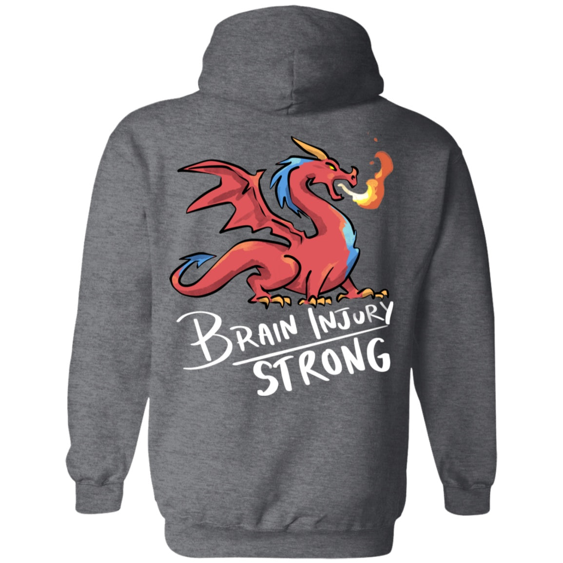 Brain Injury Strong Dragon Pullover Hoodie 8 oz. - The Unchargeables