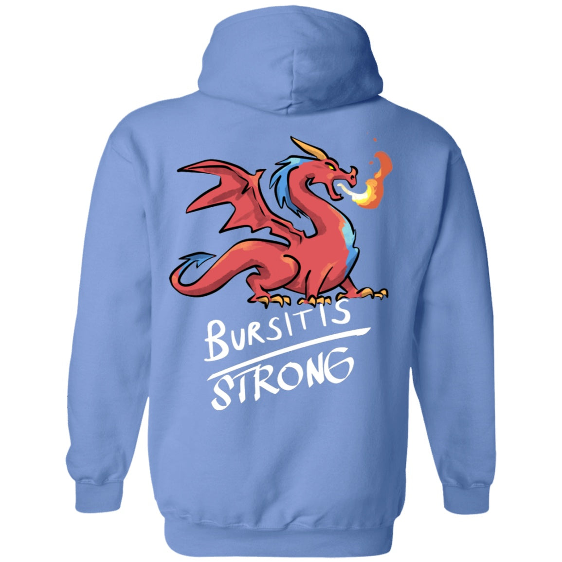 Bursitis Strong Dragon Pullover Hoodie 8 oz. - The Unchargeables