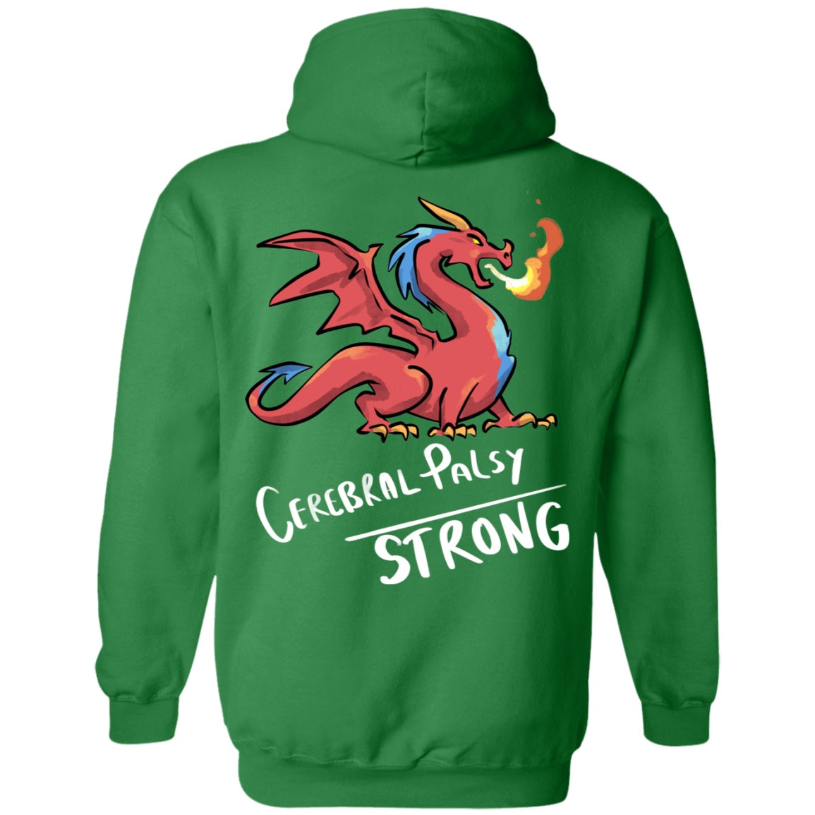 Cerebral Palsy Strong Dragon Pullover Hoodie 8 oz. - The Unchargeables