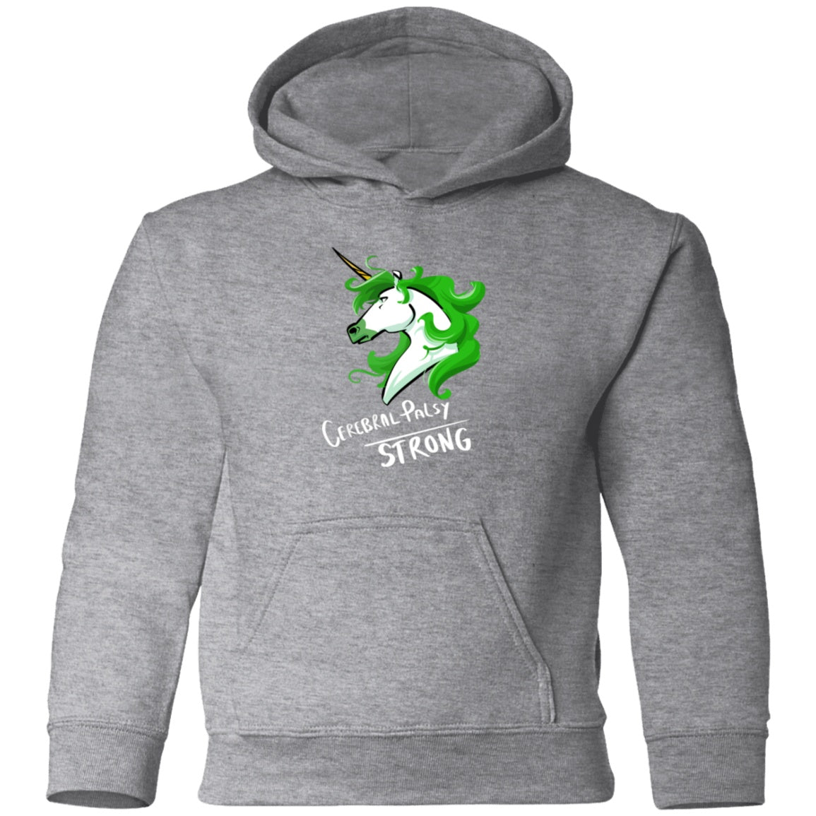 Cerebral Palsy Strong Unicorn Toddler Pullover Hoodie - The Unchargeables