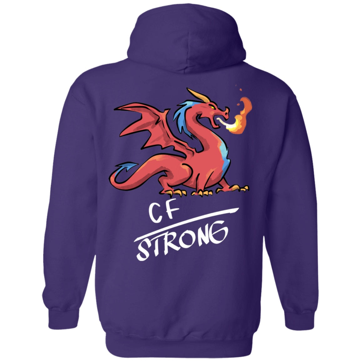 CF Strong Dragon Pullover Hoodie 8 oz. - The Unchargeables