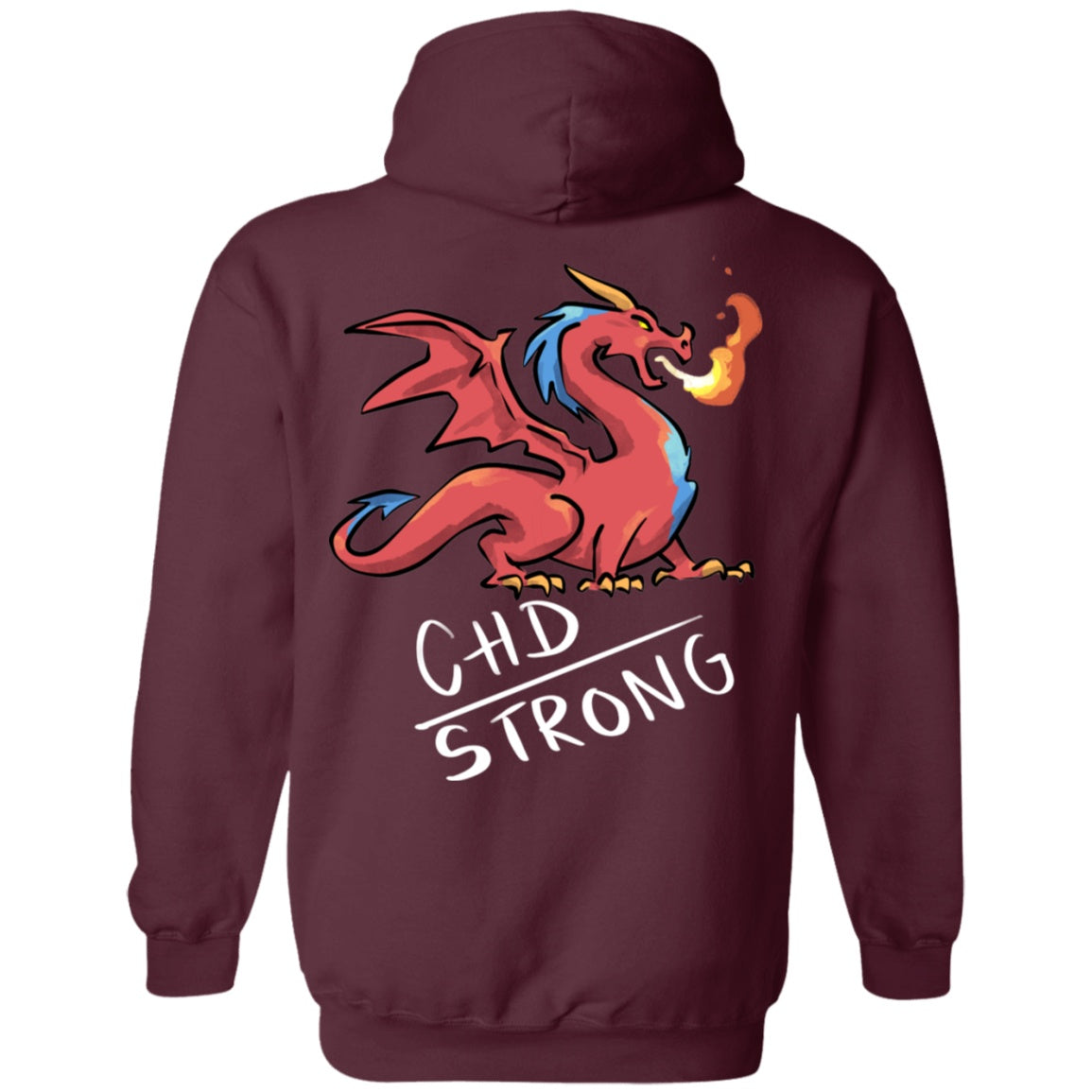 CHD Strong Dragon Pullover Hoodie 8 oz. - The Unchargeables
