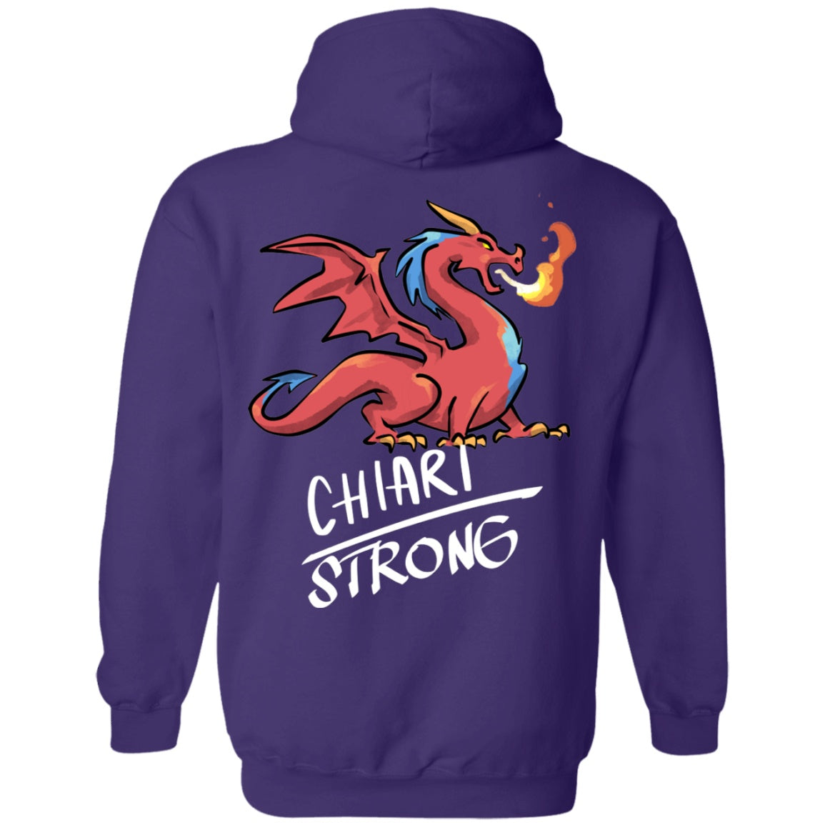 Chiari Strong Dragon Pullover Hoodie 8 oz. - The Unchargeables